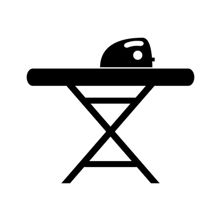 iron: ironing board isolated icon vector illustration design Illustration