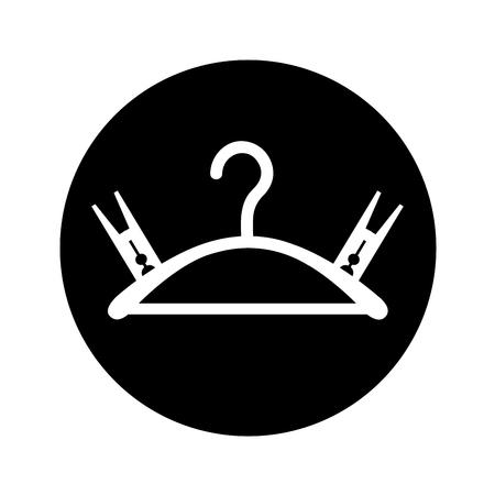 Drying hook laundry icon vector illustration design