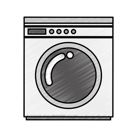 wash machine isolated icon vector illustration design 向量圖像