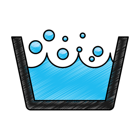 Laundry water indicator icon vector illustration design