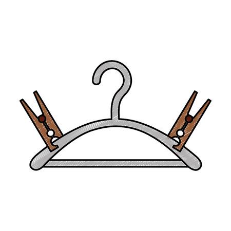 retail equipment: Drying hook laundry icon vector illustration design