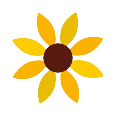 Girasol lindo icono decorativo diseño de ilustración vectorial