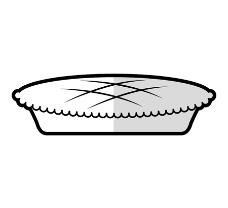 thanksgiving pie isolated icon vector illustration design