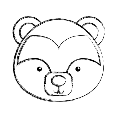 cute skunk woodland animal vector illustration design