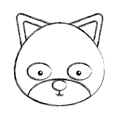 cute chipmunk woodland animal vector illustration design