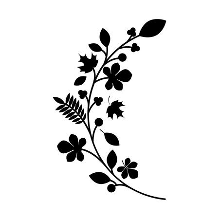 woodland floral decorative icon vector illustration design Stock Photo