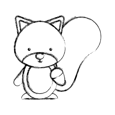 Lindo chipmunk bosque animal ilustración vectorial diseño Foto de archivo - 76782399