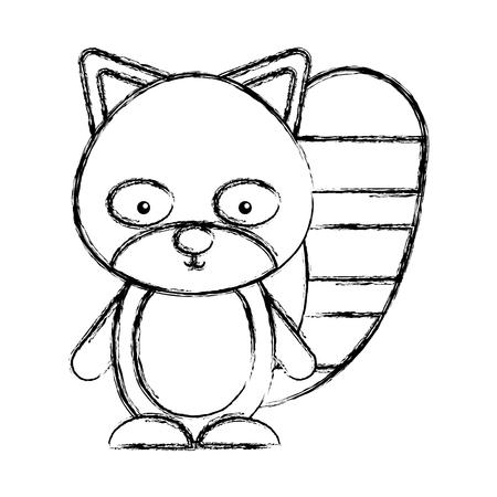 castor: cute beaver woodland animal vector illustration design