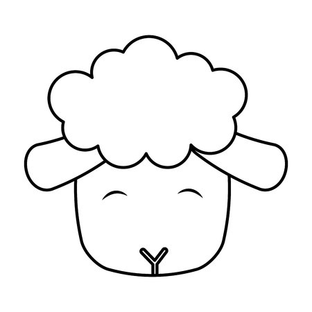 cute sheep manger character vector illustration design Ilustrace
