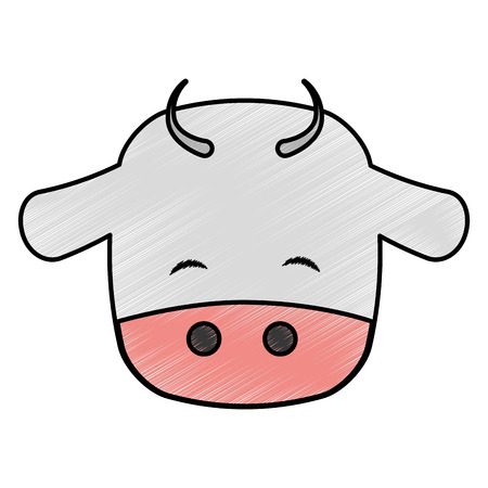cute cow manger character vector illustration design
