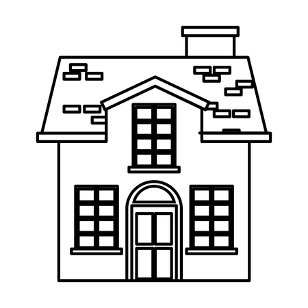 cute building antique icon vector illustration design