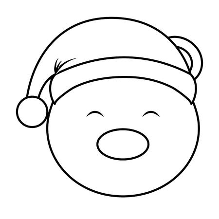 polar bear with winter hat vector illustration design