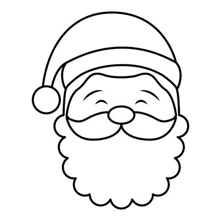 cute santa avatar character vector illustration design