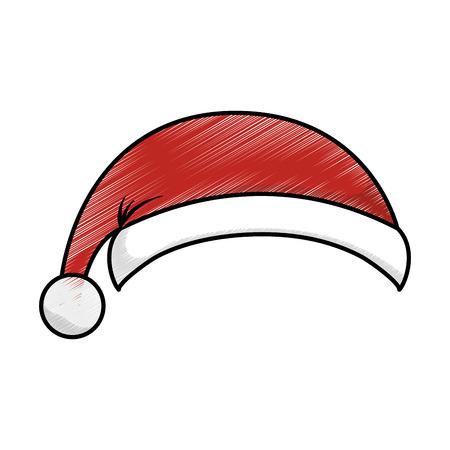 claus: santa claus hat isolated icon vector illustration design Illustration