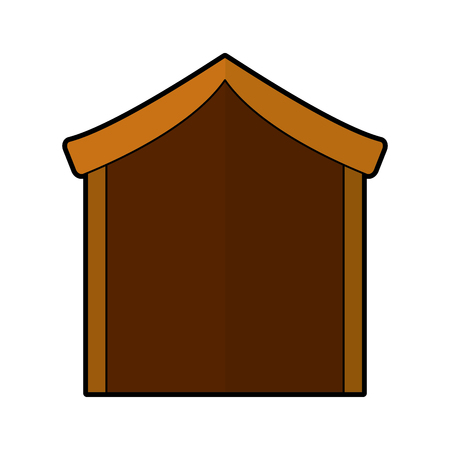 manger stable isolated icon vector illustration design