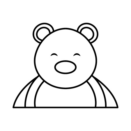 polar bear cute character vector illustration design Ilustrace
