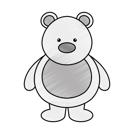 polar bear cute character vector illustration design Illustration