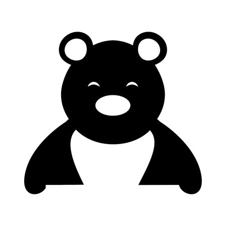 polar bear cute character vector illustration design Illustration