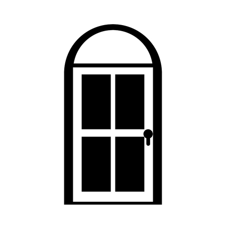door house style isolated icon vector illustration design