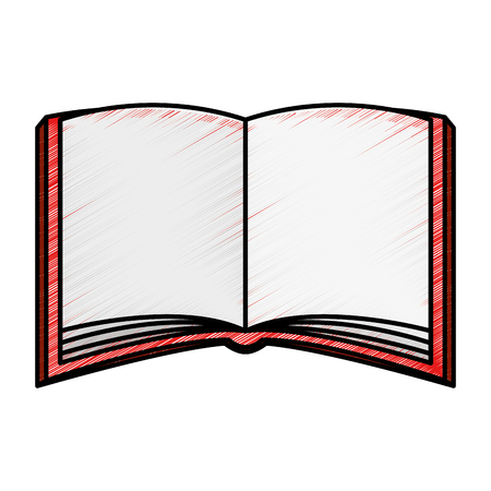 open magazine: text book isolated icon vector illustration design Illustration