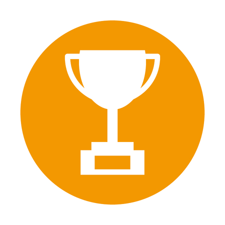trophy cup isolated icon vector illustration design Ilustrace