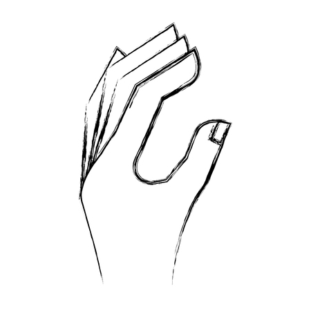 hand human language icon vector illustration design