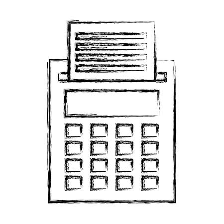 Caisse enregistreuse isolée icône illustration vectorielle design Banque d'images - 76785022