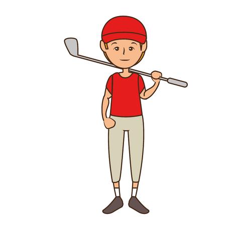 man cartoon icon over white background. colorful design. vector illustration Illustration