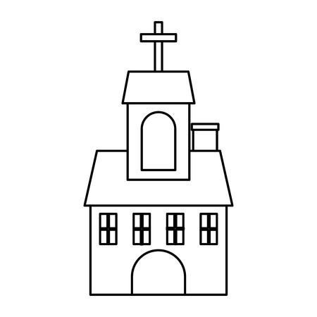 教会の建物の分離のアイコン ベクトル イラスト デザイン  イラスト・ベクター素材