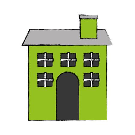 simple store: cute building antique icon vector illustration design
