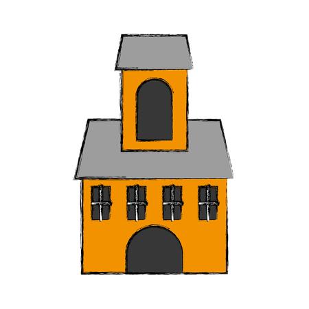 教会の建物の分離のアイコン ベクトル イラスト デザイン 写真素材 - 76795241