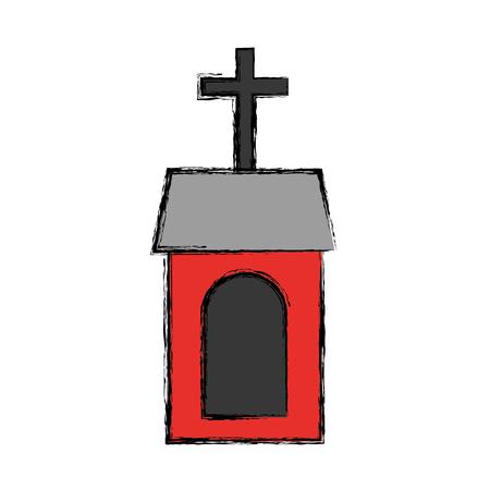 教会の建物の分離のアイコン ベクトル イラスト デザイン 写真素材 - 76795244