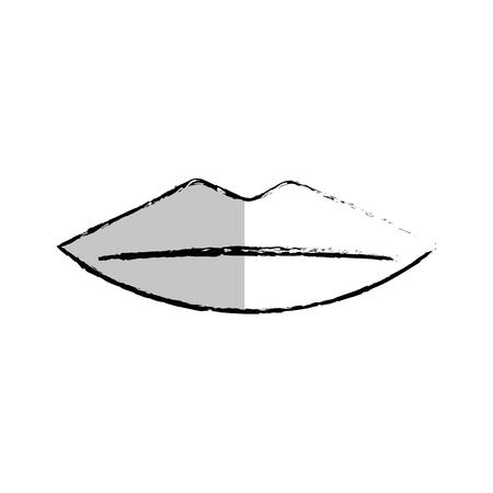 female lips isolated icon vector illustration design Illustration