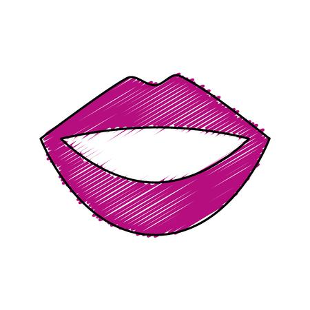 female lips isolated icon vector illustration design Çizim