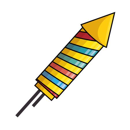 fire works: rocket firework celebration icon vector illustration design Illustration