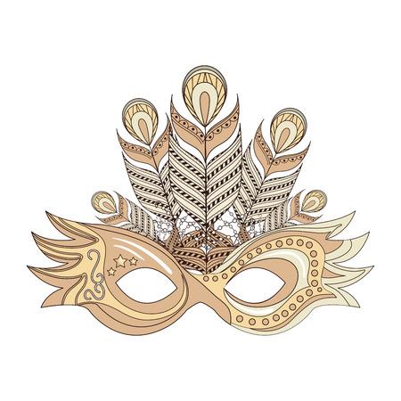 Máscara de Carnaval icono aislado diseño de ilustración vectorial Foto de archivo - 76830583