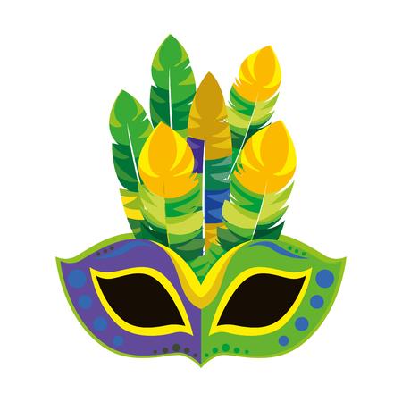 Máscara de Carnaval icono aislado diseño de ilustración vectorial Foto de archivo - 76830539
