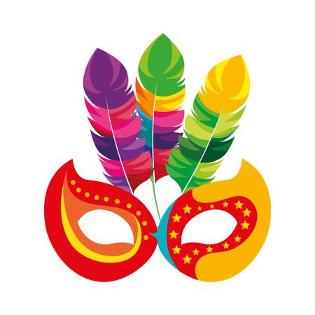 Carnaval masker geïsoleerd pictogram vector illustratie ontwerp Stockfoto - 76830468