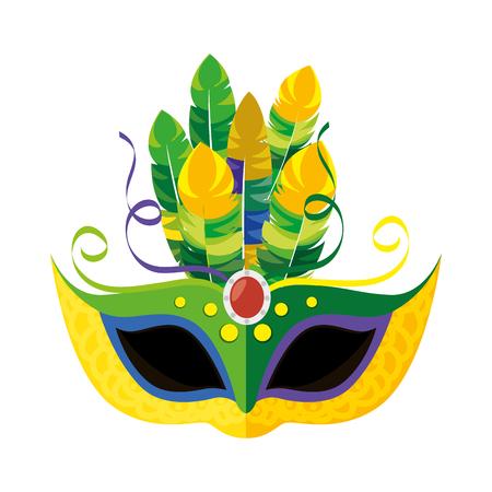 incognito: Carnival mask isolated icon vector illustration design