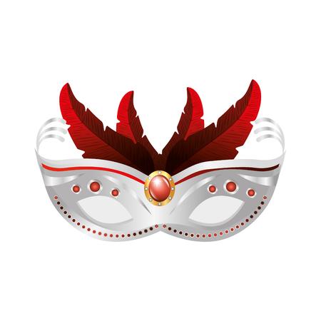 Máscara de Carnaval icono aislado diseño de ilustración vectorial Foto de archivo - 76830798