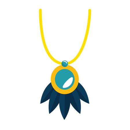 necklace beautiful isolated icon vector illustration design Ilustração