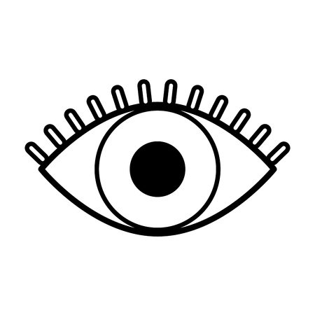 human eye view isolated icon vector illustration design
