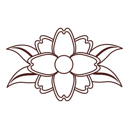 single flower: beautiful flower decorative icon vector illustration design