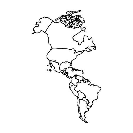 Kaart van het Amerikaanse vectorillustratieontwerp Stockfoto - 76832878