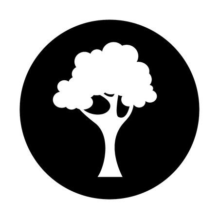 tree plant isolated icon vector illustration design Иллюстрация