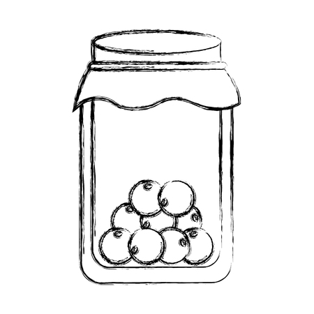 mason jar with fruits isolated icon vector illustration design