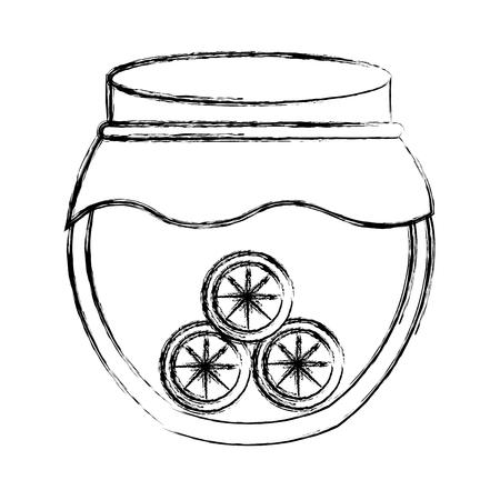 mason: mason jar with fruits isolated icon vector illustration design