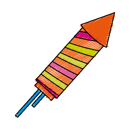 rocket firework celebration icon vector illustration design Çizim