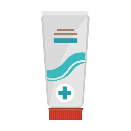 medical cream tube isolated icon vector illustration design