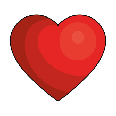 pulsating: heart cardio isolated icon vector illustration design